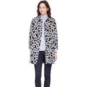 kate spade Jackets & Coats - Kate Spade hollyhock floral navy coat